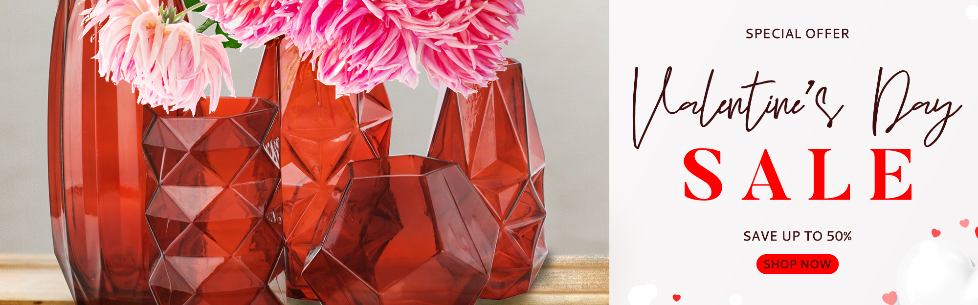 Click to view more Valentine's Red Vases